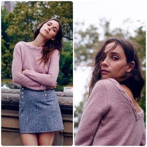 Madewell et Sezane Mohair Braided Sweater